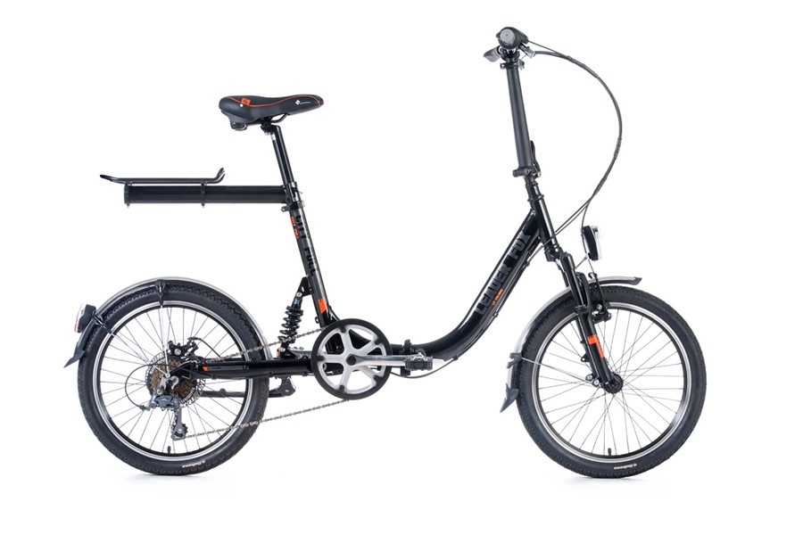 Bicicleta pliabila full suspension Leader Fox City Full - negru