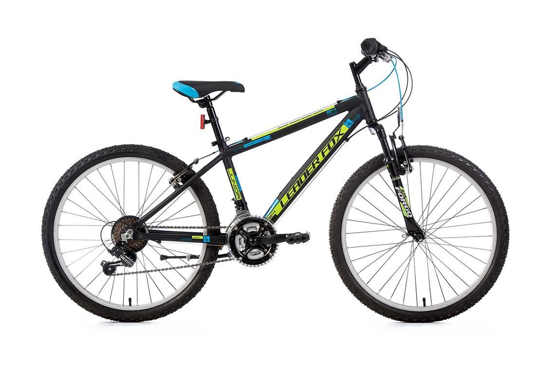 Bicicleta pentru Copii Leader Fox Bobo Boy, 18 viteze, suspensie, roata 24 inch