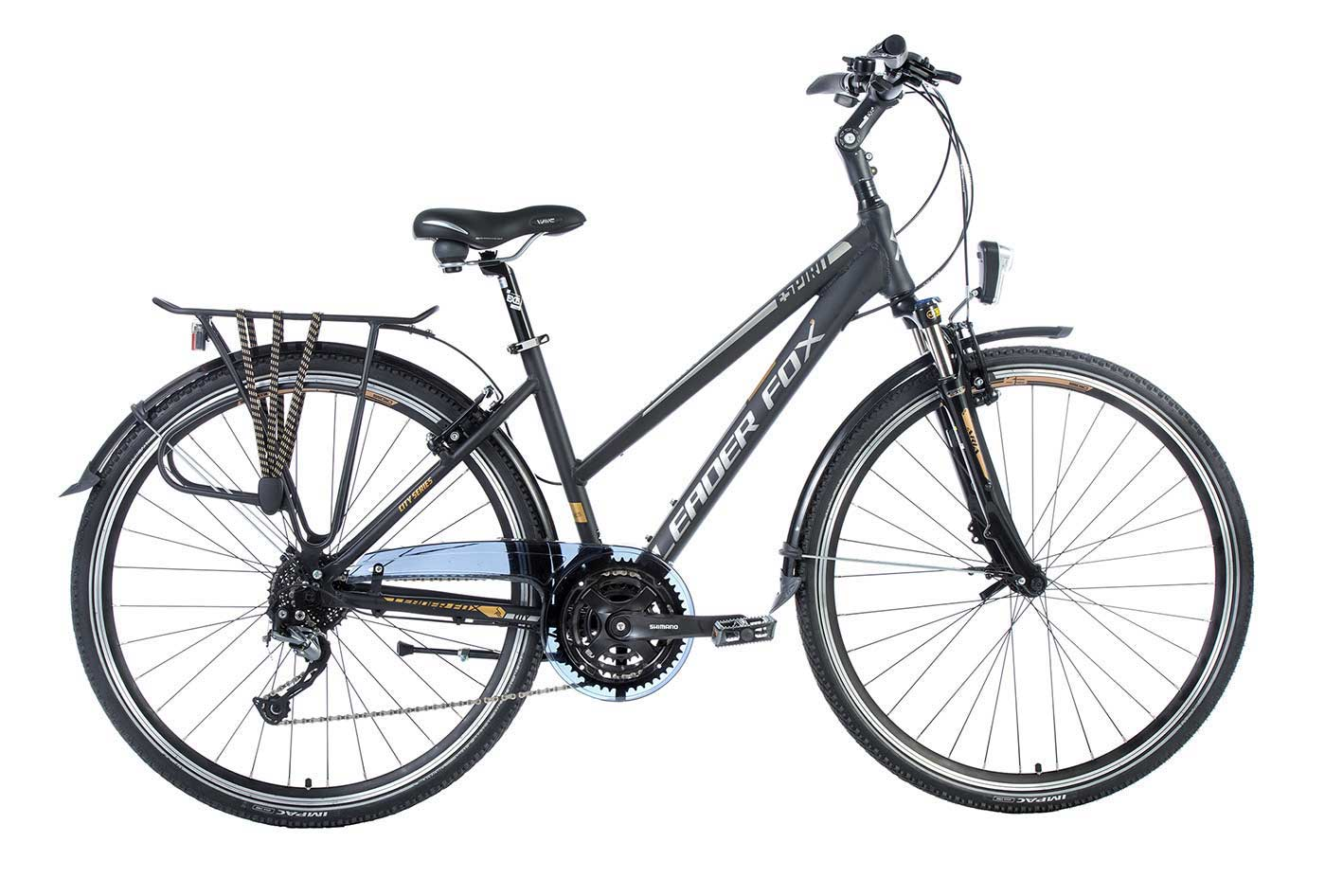 Bicicleta de Oras Leader Fox Espirit Lady, 24 viteze, suspensie, lock out, roata 28 inch