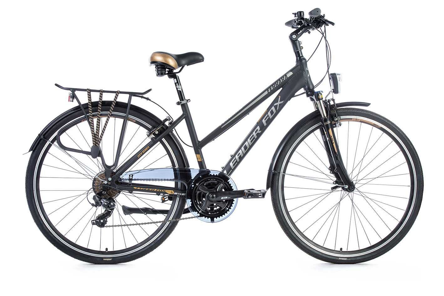 Bicicleta de Oras Leader Fox Ferrara Lady, 21 viteze, suspensie, lock out, roata 28 inch