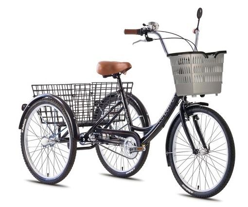 Tricicleta adulti Leader Fox Bormio - negru