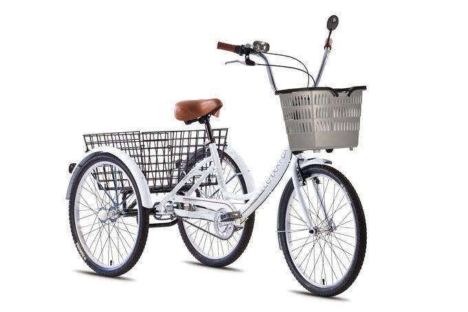 Tricicleta adulti Leader Fox Bormio - alb